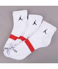 Jordan Drifit Low Quarter 3 Pack bílé (basketbal)