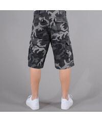 Urban Classics Camouflage Cargo Shorts camo černé / šedé