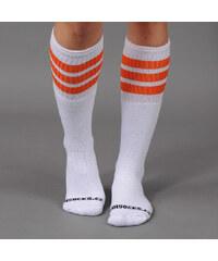 "CoolSocks Simple 22"" bílé / oranžové"