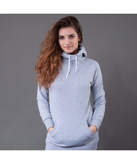 Urban Classics Ladies Long Sweat Hoody šedá