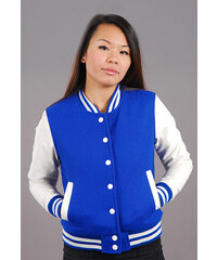 Urban Classics Ladies Oldschool College Jacket modrá / bílá