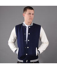Urban Classics Oldschool College Jacket navy / bílá