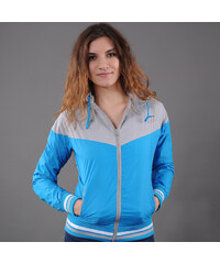Urban Classics Ladies Arrow Windrunner šedá / tyrkysová