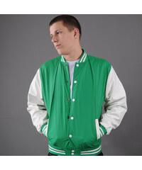 Urban Classics Light College Jacket zelená / bílá