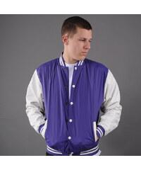 Urban Classics Light College Jacket fialová / bílá