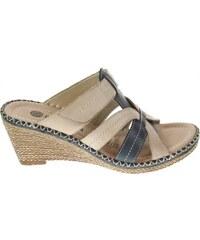 Remonte dámské pantofle D6769-60 béžové