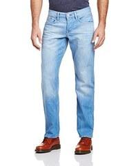 edc by ESPRIT Herren Straight Leg Jeans mit heller Waschung