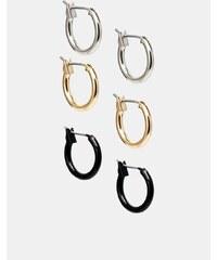 ASOS - Runde Ohrringe im Set - Mehrfarbig