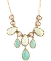 Romantický zlatý náhrdelník s barevnými kamínky