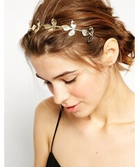 ASOS - Haarreif mit Blattdesign - Gold