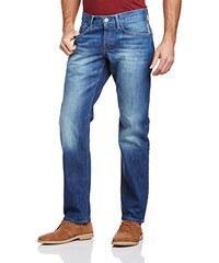 edc by ESPRIT Herren Straight Leg Jeans im used Look