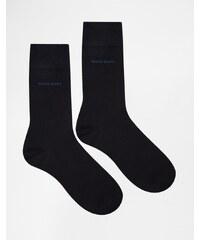 BOSS By Hugo Boss Socks In 2 Pack - Bleu marine