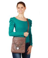 TopMode Dámský elegantní svetřík s nabíraným rukávem modrozelená