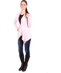 TopMode Dámský zeštíhlující módní kardigan na zavazování lososová