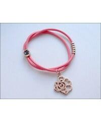 Univerzální růžový náramek / gumička