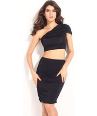 Levný černý komplet sukně a topu