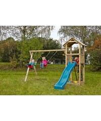 Dein Spielplatz Spielturm mit Sandkasten und Schaukel, ohne Wellenrutsche »Pirate & Princess 3«