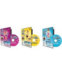 POWERMAXX Trampoline 3er Set Trainings-DVDs, Powermaxx, für »Anfänger«, »Fortgeschrittene« und »Profis«.
