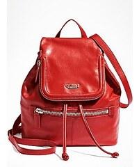 Guess Batoh Backpack with Zippered Flap červený