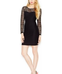 Guess Šaty Illusion Lace Panel Body-Con Dress