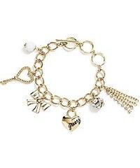 Guess Náramek Gold Tone Sparkle Charm Bracelet