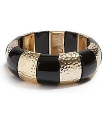 Guess Náramek Gold Tone and Black Stretch