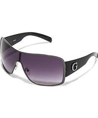 Guess Sluneční brýle Metal Framed Large Shield Sunglasses černé