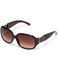 Guess Sluneční brýle Cutout Logo Plastic Sunglasses hnědé