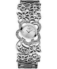 Guess Hodinky GUESS Floral lacey bangle stříbrné