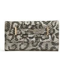 Guess Peněženka Greyson Leopard-Print Slim Clutch