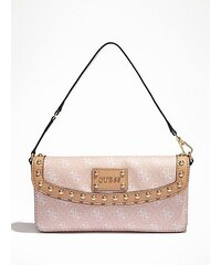 Guess Kabelka Logo Afair Petite Flap Bag růžová