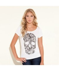 Guess Triko Danny Cap Sleeve Skull Top