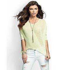 Guess Halenka Open Knit Basic Striped zelená