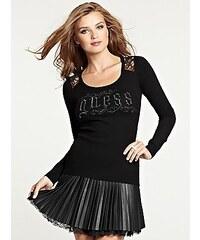 Guess Svetr Long-Sleeve Romance Logo Sweater černý