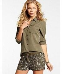 Guess Košile Eva Long-Sleeve Shirt Military
