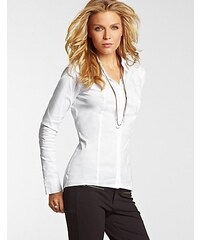 Guess Halenka Long-Sleeve Poplin Pleated Shirt