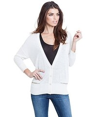 Guess Svetr Cocoon Georgette Mixed Cardigan