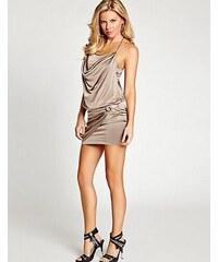 Guess Šaty Sleeveless Strappy T-Back Dress béžové