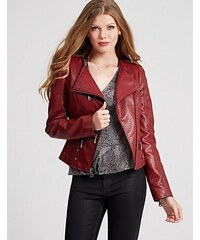 Guess Bunda Dream Long-Sleeve Jacket červená