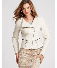 Guess Bunda Dream Long-Sleeve Jacket bílá