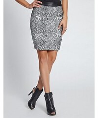Guess Sukně Snake-Print Jacquard Pencil Skirt