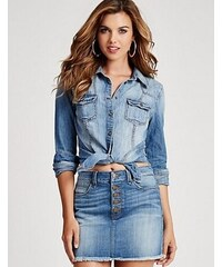Guess Riflová Košile Slim-Fit Denim Shirt In Fiddle Wash