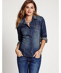 Guess Riflová Košile Slim-Fit Denim Shirt In Rhythmic Wash