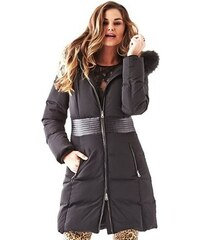 Guess Kabát Long-Sleeve Quilted Belt Trench Coat
