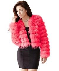 Guess Kabátek Long-Sleeve Faux-Fur Jacket