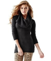 Guess Svetr Long-Sleeve Cowl-Neck Ribbed Tunic Sweater