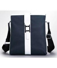 Pánská taška Messer pravá kůže - modrá
