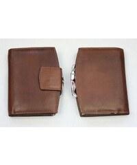 Arwel Hnědá kožená peněženka rámová
