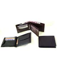 Arwel černá pánská kožená peněženka s vnitřní zápinkou