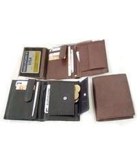 černá pánská kožená peněženka a dokladovka se zápinkou